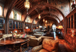 Photo: Here in the library.... what book do you want to read?    (this is one of the libraries in Hearst Castle)
