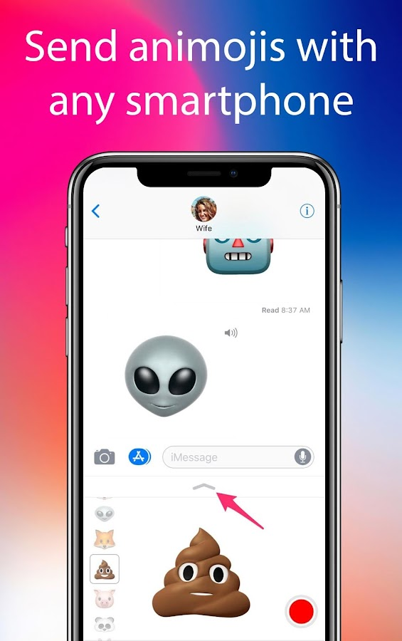 Screenshots of Animojis Phone X for Android for iPhone
