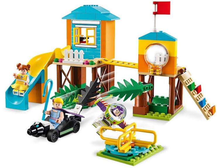 Contenido de Lego® 10768 Aventura en el Parque de Juegos de Buzz y Bo Peep