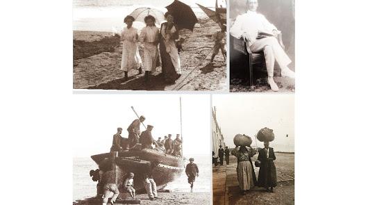 José González Billón junto a imágenes de Garrucha tomadas por él entre 1903 y 1906