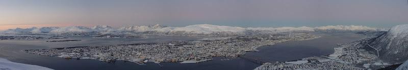 Photo: View of Tromso from Fjellheisen - http://en.wikipedia.org/wiki/Fjellheisen