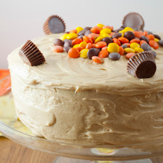 Reese's Double Peanut Butter Layered Cake.