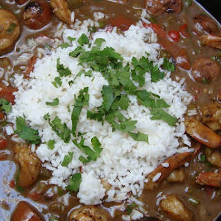 Shrimp and Andouille Sausage Gumbo.