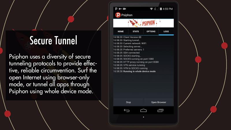 Psiphon Pro - The Internet Freedom VPN Screenshot 4