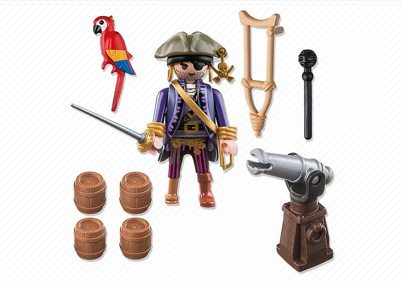 Contenido Real de Playmobil® 6684 Capitán Pirata