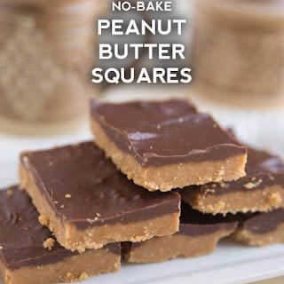 No-Bake Chocolate Peanut Butter Squares.