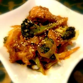 Stir Fry Broccoli Chicken.