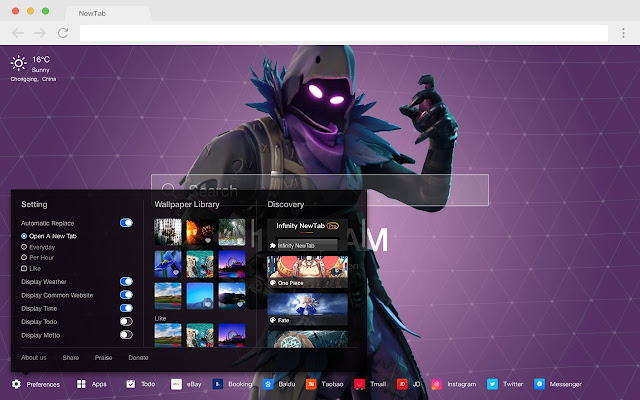 Raven HD Wallpapers Pop Games New Tabs Theme
