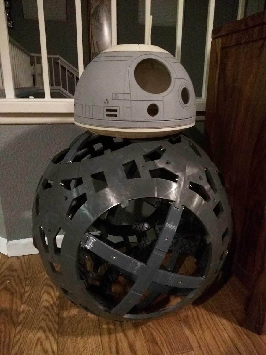 The beginnings of Greg's new BB-8 clone droid.