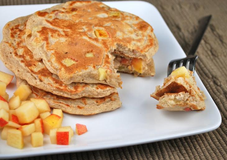 Chunky Apple Cinnamon Pancakes Recipe