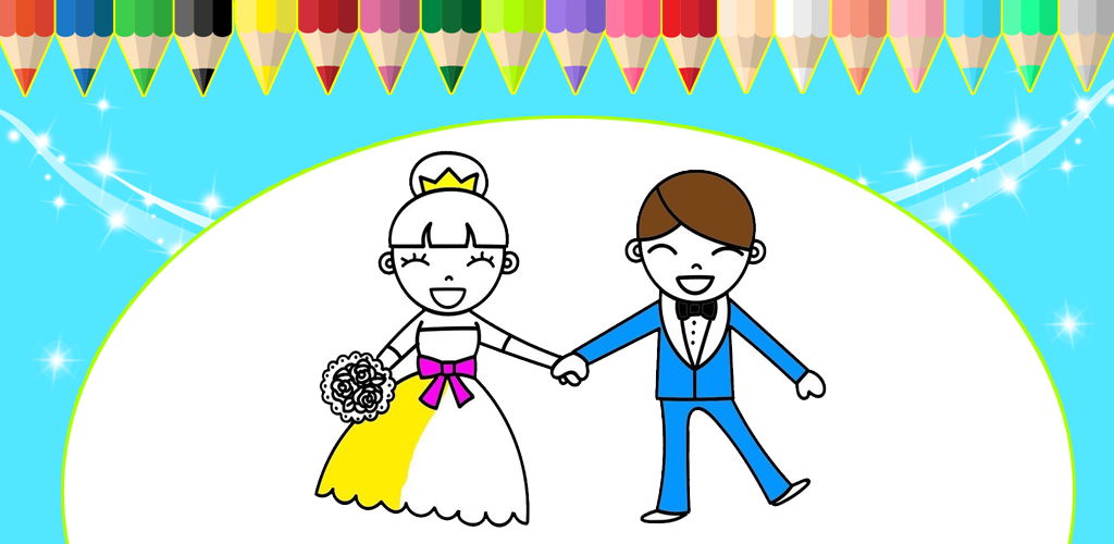 Indir Bride And Groom Coloring Game For Kids 20 Apk Comredberry