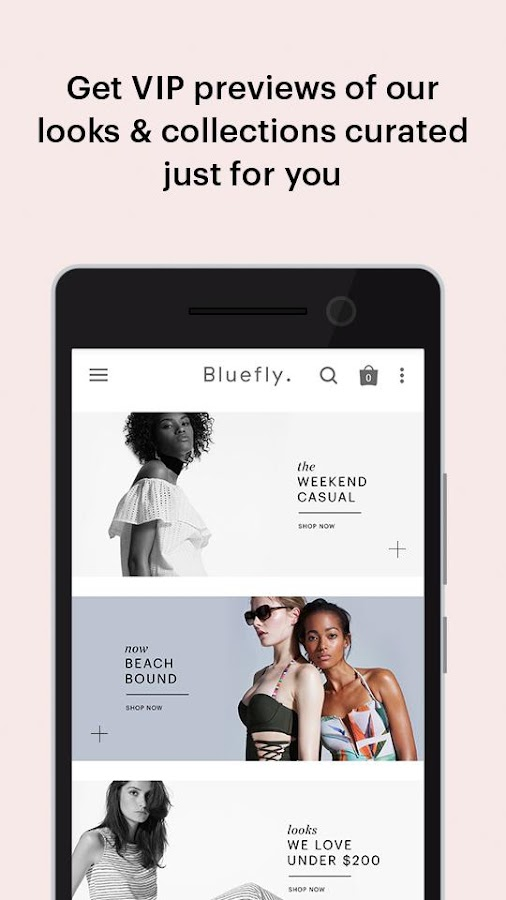 Bluefly- screenshot