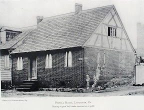 Photo: An old house that stood in Lancaster, PA. You can see the old medieval style timbering. Check my new colonial era website http://colonial-american-life.blogspot.com/