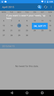 TwitCal your tweet calendar- screenshot thumbnail