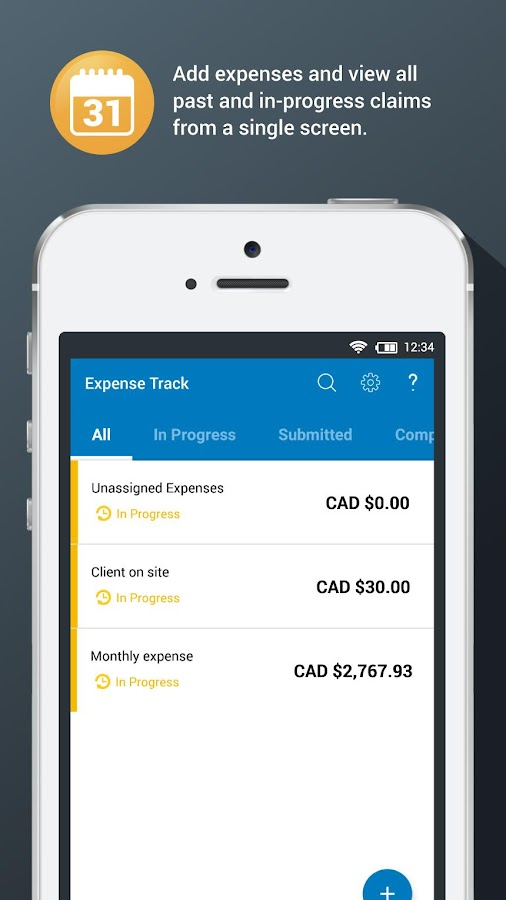 ExpenseTRACK by Flextrack- screenshot