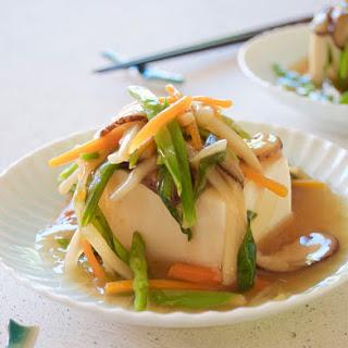 Tofu with Vegetable Sauce