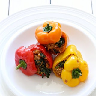 Quinoa and Turkey Stuffed Mini Bell Peppers.