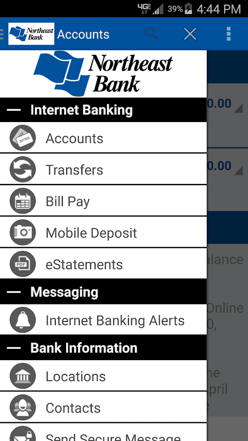 Northeast Bank Mobile Banking- screenshot
