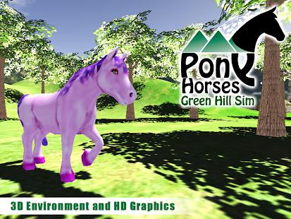 Pony-Horses-Green-Hill-Sim-3D 4