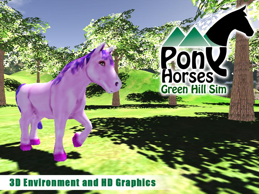 Pony-Horses-Green-Hill-Sim-3D 16
