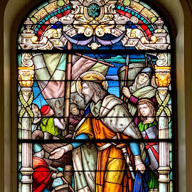 New Orleans Stained Glass by Lorna Littrell - Buildings & Architecture Architectural Detail ( church, stained glass, colorful, architecture )