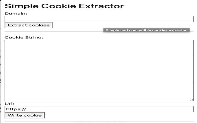 Simple curl compatible cookies extractor