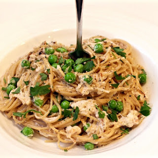 Creamy Pasta With Crab And Peas