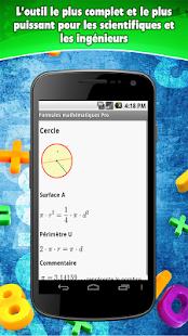 Formules mathématiques- screenshot thumbnail
