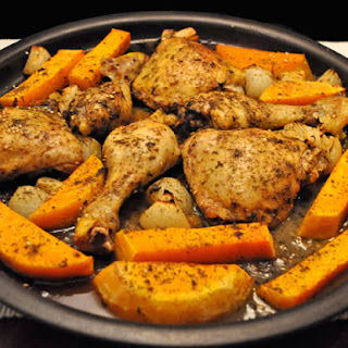 Chicken and Butternut Squash with Lemon and Za'atar