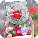 Red Rose Love Wallpaper Live: Analog Clock Theme icon
