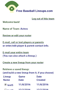Free Baseball Lineups.com screenshot 2