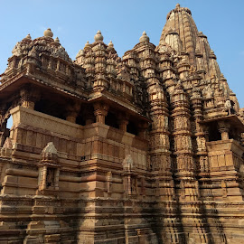 Built patiently by Srivenkata Subramanian - Buildings & Architecture Architectural Detail ( history, temples, old, khajuraho, india, kings,  )