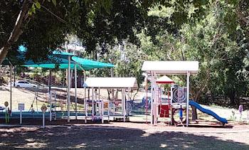 Petrol Station themed playground