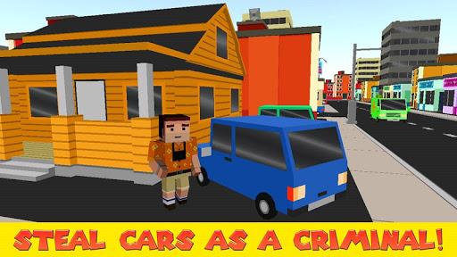 Cube Car Theft Race 3D