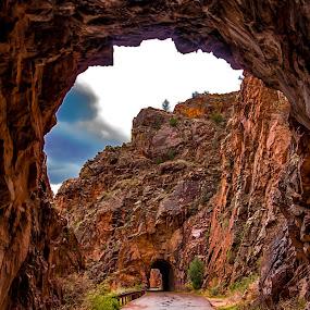 Tunnels in the Jemez Mountains by Carol Ward - Landscapes Mountains & Hills ( hills, mountains, albuquerque nm, tunnels, jemez mountains,  )