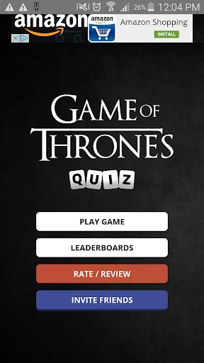 Trivia Quiz - Game of Thrones