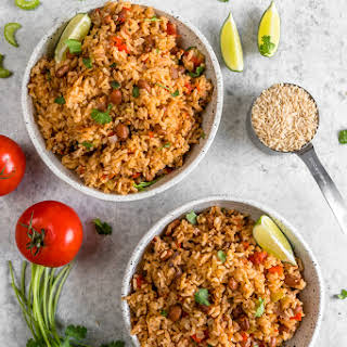 Vegan Spanish Rice and Beans {healthy & oil-free}.