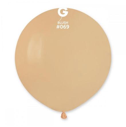 Ballonger helrunda 48 cm, blush