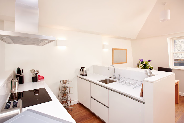 Full kitchen at London City Apartments