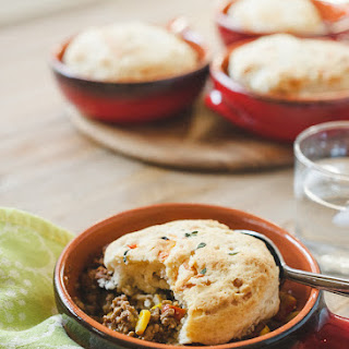 Buttermilk-Gruyere Biscuit Topped Shepherd's Pie