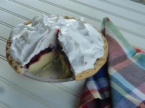 "Raspberry Cream Pie ""This creamy pie is quick and easy."" - Janet"