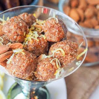 Coconut Almond Date Energy Balls with Lemon {GF, Vegan}.
