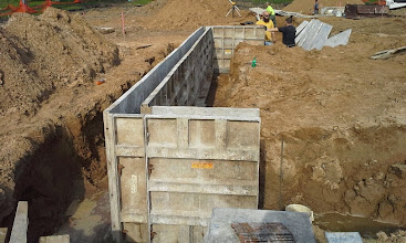 Photo: 1st Base Dugout Foundation Forms 05-19-2014