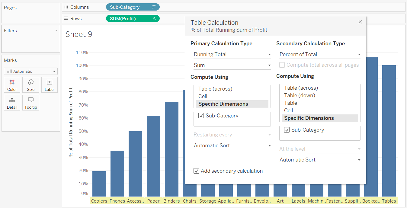 Pareto Chart In Tableau 32