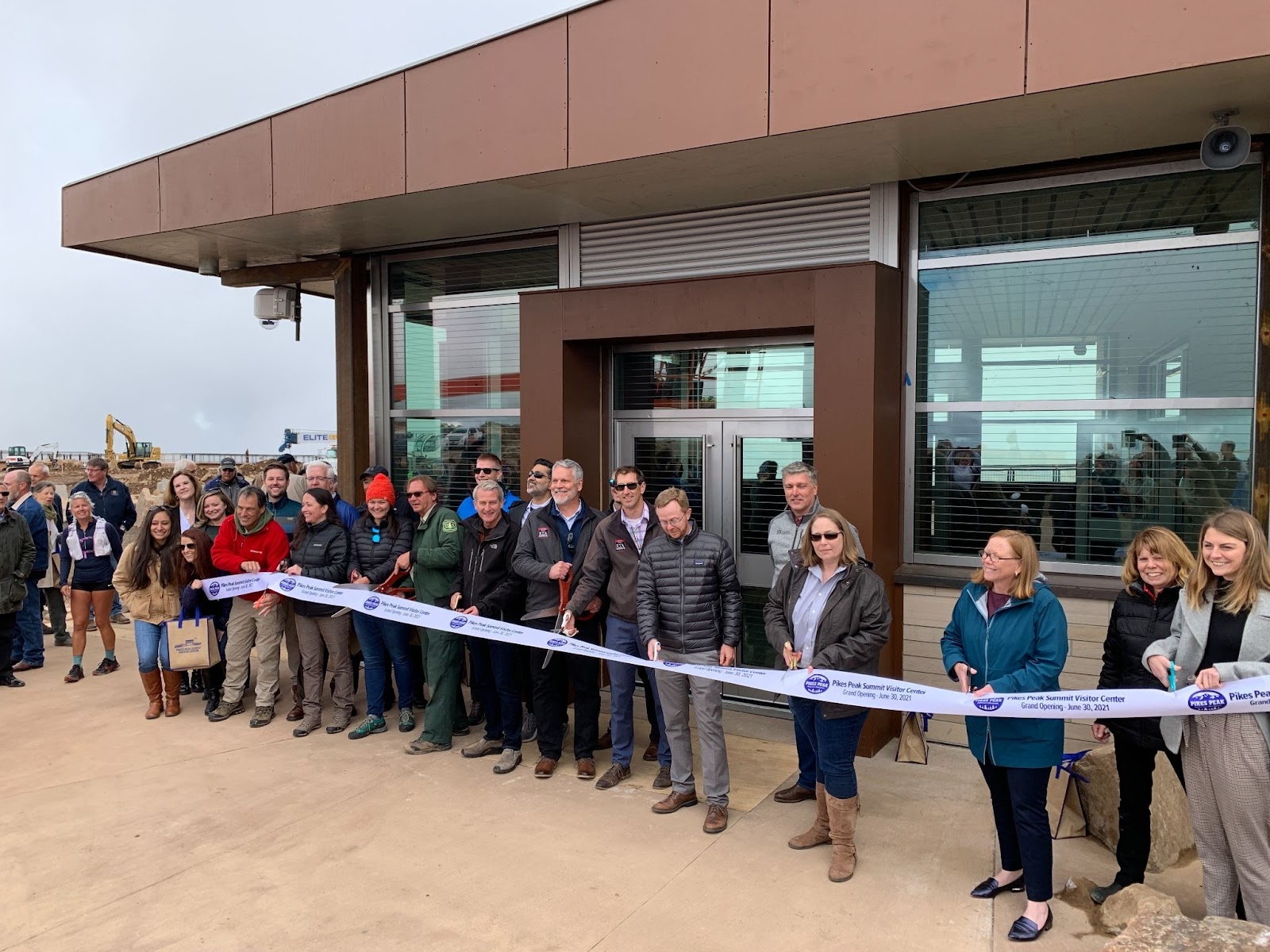 Ribbon cutting ceremony at Pikes peak Summit Complex's grand opening