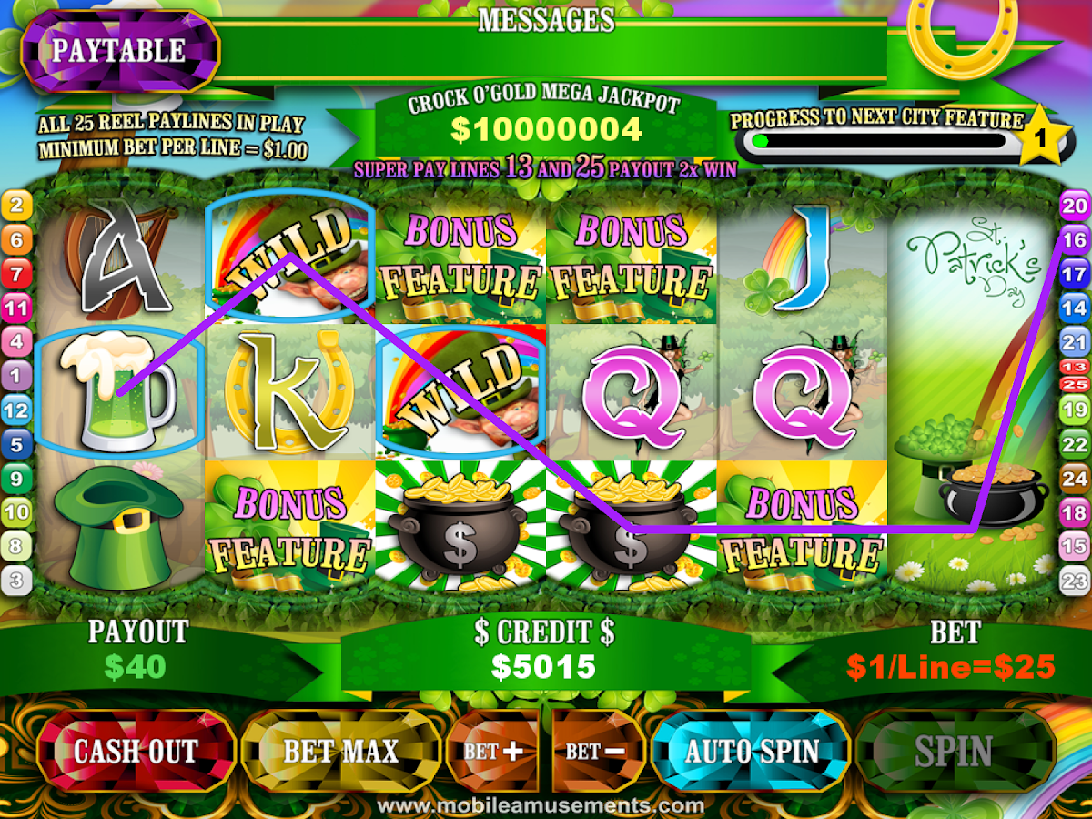 Crock O'Gold Rainbow Riches- screenshot