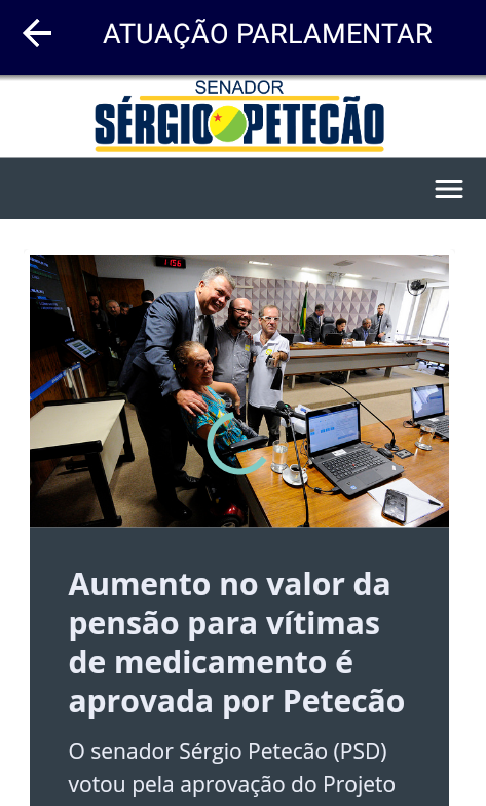 SENADOR PETECÃO- screenshot