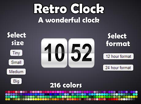 Retro clock (free)