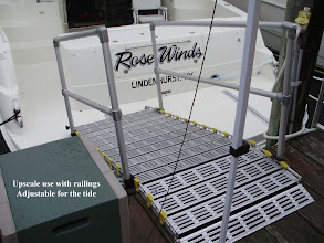 Photo: Short handrails can also be used for a boat ramp.