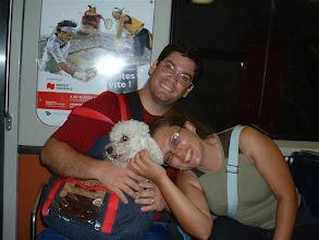 Photo: Efra, Niko y Adriana... viajando por el metro subterraneo